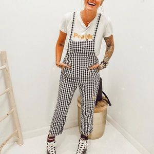 Pants - Gingham Overalls